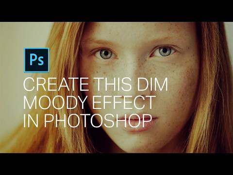 How to Enhance Freckles and Add a Dim Moody Look in Photoshop
