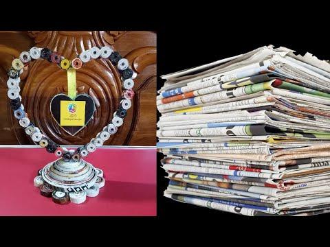 How to make a newspaper showpiece   Best of waste newspaper Diy Craft Idea