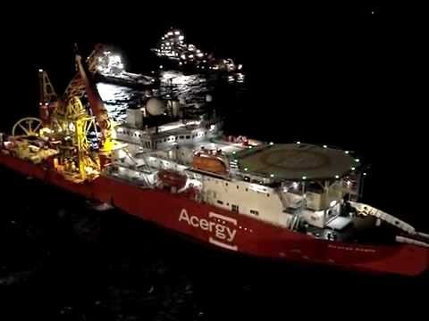 Acergy Vessel Angola Night View