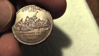 Mint error, New Jersey state quarter with missing clad