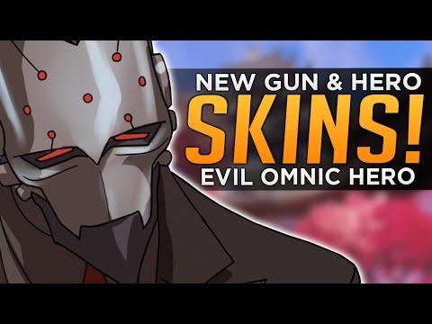 Overwatch: NEW Gun CAMOS & Skins!? - New HERO Maxmilien!?