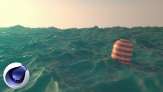 Океан в Cinema 4D