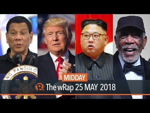 Duterte on NPA, Trump cancels meeting with Kim, Freeman accused of sexual harassment | Midday wRap