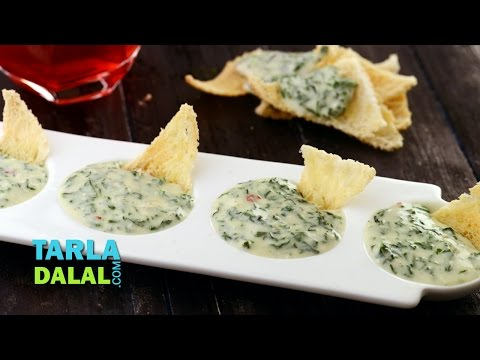 Cheesy Spinach Dip By Tarla Dalal