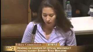 [Undeclared name], Ethics Commission Sheriff Mirkarimi, August 16, 2012 [Item 2, PC-62]