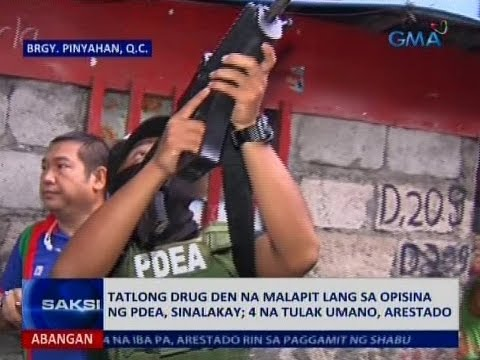 Saksi: PDEA, ni-raid ang 3 drug den na malapit sa kanilang opisina