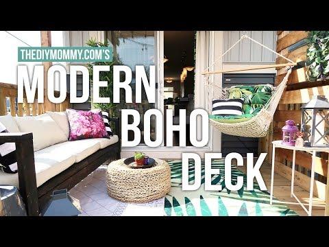 MODERN BOHO DECK MAKEOVER | The DIY Mommy