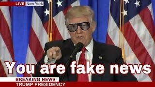 Donald Trump zu unhöflichen CNN-Reporter: YOU ARE FAKE-NEWS!! #youarefakenews