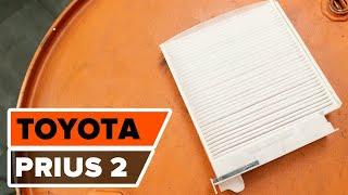 Hogyan kell kicserélni az kabinszűrő TOYOTA PRIUS 2 gépkocsiban