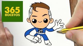 COMO DIBUJAR MR FANTASTICO KAWAII PASO A PASO - Dibujos kawaii faciles - How to draw a MR FANTASTICO