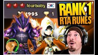 *RTA RANK 1* - FourBaby's Actual RTA Rune Builds! (Summoners War)