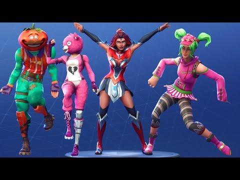 Fortnite All Season 4 Dances with Random Costumes