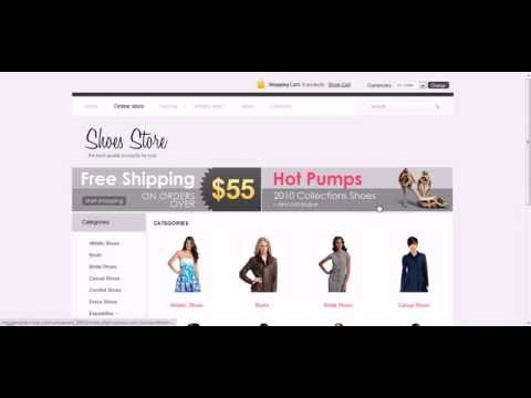 Joomla Virtuemart For Shoes Template - A Template Preview / Demo On How It Works