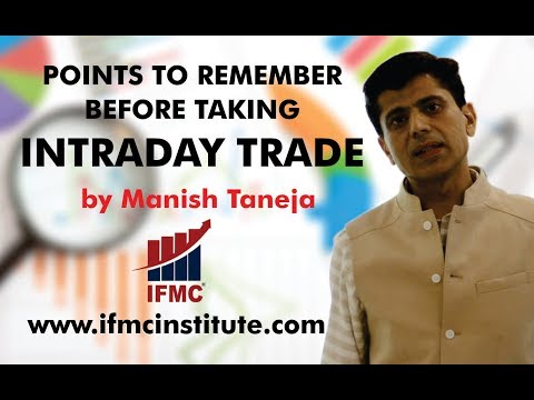 POINTS TO REMEMBER BEFORE TAKING INTRADAY TRADE ll uni-directional trade strategy ll
