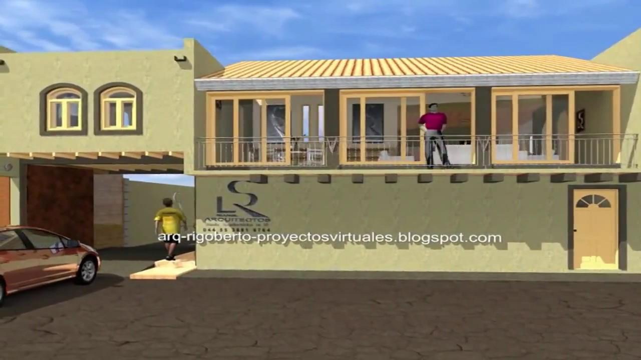 Dise o virtual de casa habitacion en 3d 15000 pesos youtube - Diseno casa 3d ...