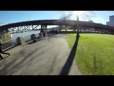 Portland waterfront on a sunny February day: GoPro video