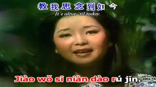 [Kara pinyin + Chinese + Engsub] The moon represents my heart | 月亮代表我的心 - Deng Li Jun