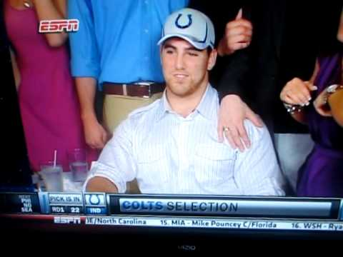 Indianapolis Colts Draft OT Anthony Castonzo #22 Overall in 2011 NFL Draft