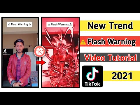 FLASH WARNING TUTORIAL | TIKTOK TRENDING||how to make flash warning video in tiktok 2021