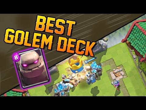 Clash Royale - Best Golem Deck & Tips on using Golem!