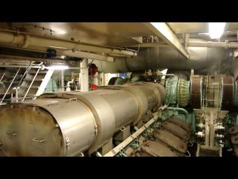 Tour of the engine rooms onboard Cruiseferry M/S Cinderella (Viking Line)
