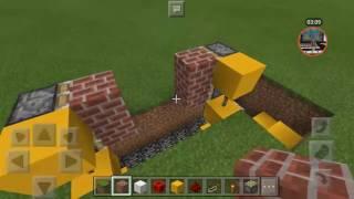 Cara membuat pintu otomatis dari hoe di minecraft
