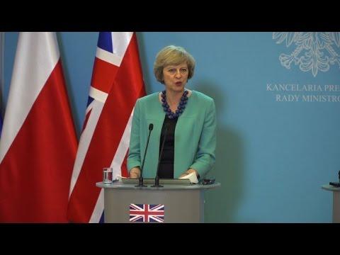 British PM seeks to reassure Poles in post-Brexit UK