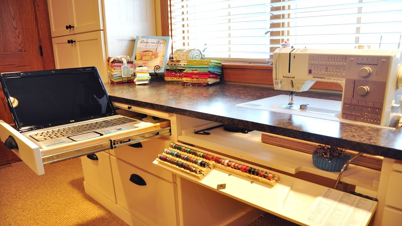 Sewing Room Design Ideas sewing room furniture Organized Sewing Room Ideas Youtube