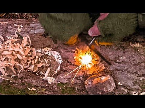 Lighting a Bushcraft Fire – ONLY Feathersticks