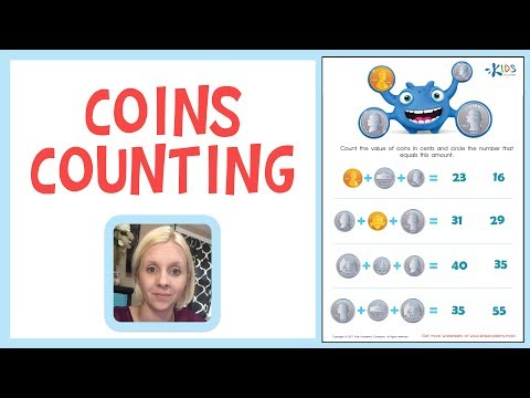 Know Your Money - US Coins Counting for 1st Grade | Kids Academy