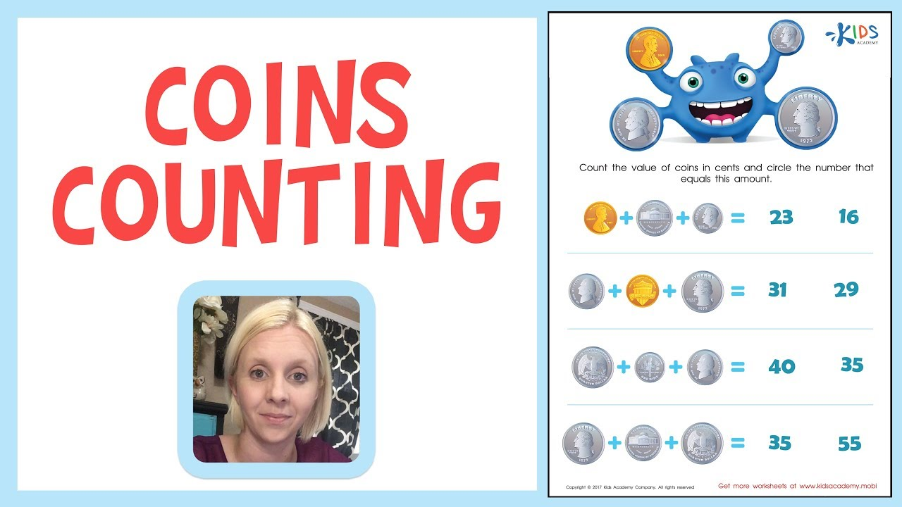 medium resolution of Know Your Money - US Coins Counting for 1st Grade   Kids Academy - YouTube