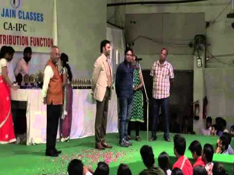 Prize Distribution Function (May 2014) at CA AJAY JAIN CLASSES