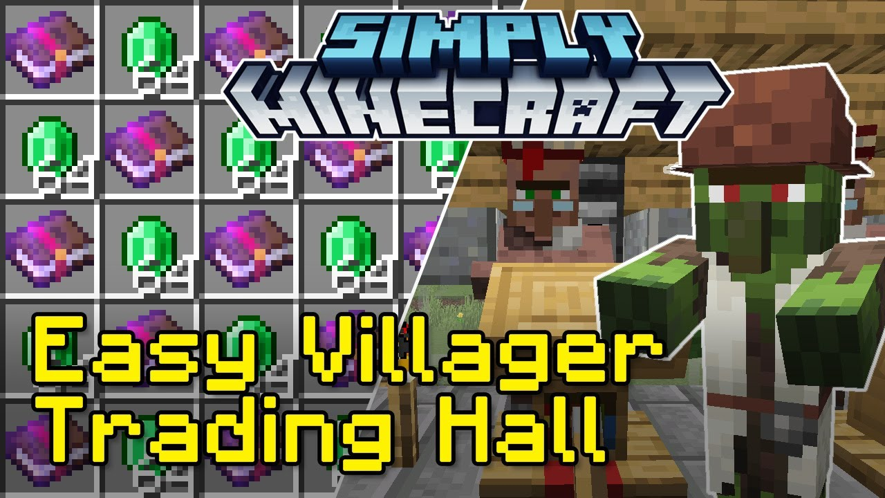 Easy Villager Trading Hall Tutorial with Zombie Discounts  Simply  Minecraft (Java Edition 9.96)