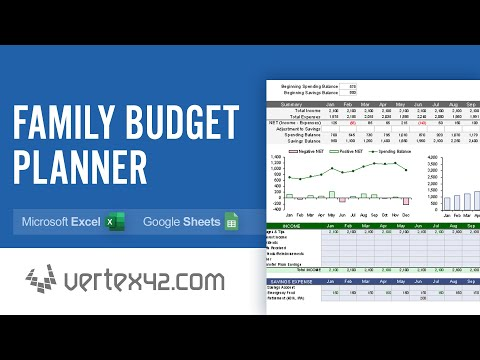 family budget planner demo youtube
