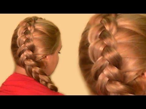 Французская Коса по Диагонали| Как Плести Самой Себе| Видео-Урок