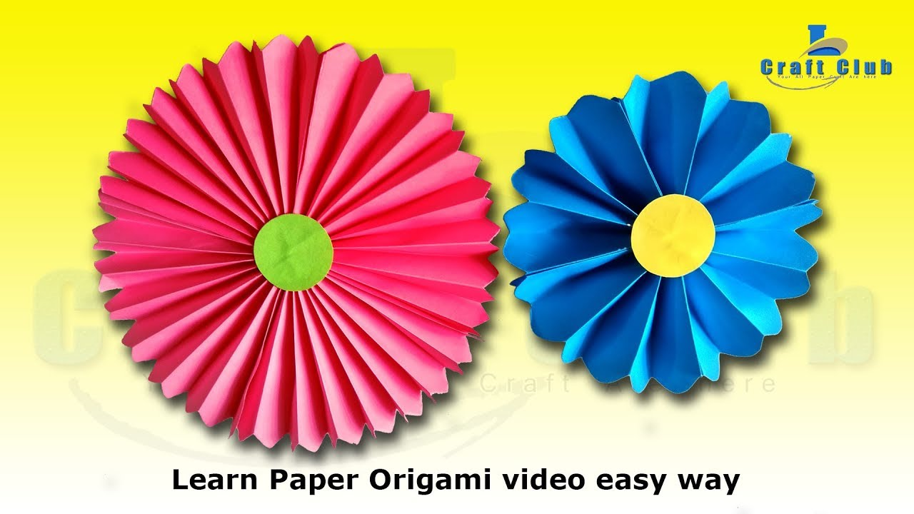 How to make origami flowers easy origami paper decoration home how to make origami flowers easy origami paper decoration home decoration linas craft club mightylinksfo