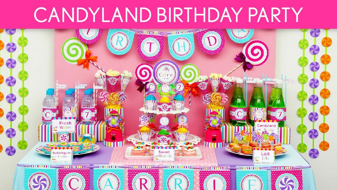 Candy Birthday Party Ideas Candyland B39 YouTube