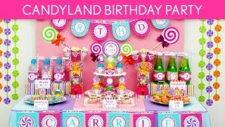 Candy Birthday Party Ideas // Candyland - B39