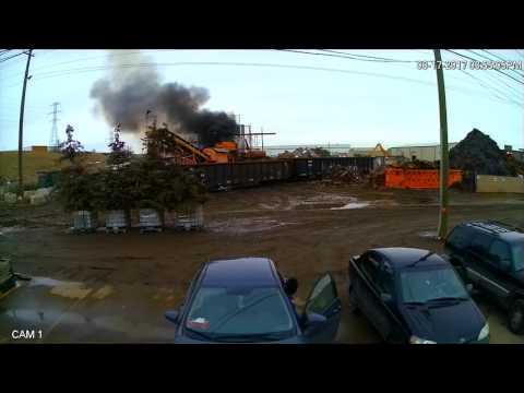 Explosion At Calgary Metal