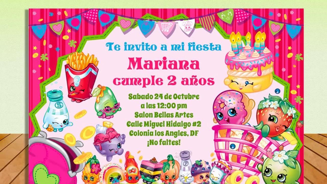Invitación Shopkins Gratis Todo Gratis Para Tu Fiesta