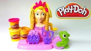Play-doh Disney Princess Rapunzel Hair Designs Playset Playdough Toy By Lababymusica