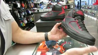 Nike Air Jordan Retro 2 Alternate '87 - Black & Red, at Street Gear, Hempstead NY