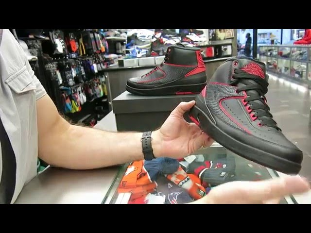 check out 0c10b a3f76 Nike Air Jordan Retro 2 Alternate  87 - Black   Red, at Street Gear, Hempstead  NY - YouTube