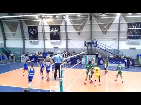 Volleyball Tourcoing-Nice 29/01/16 vc le couz Pule