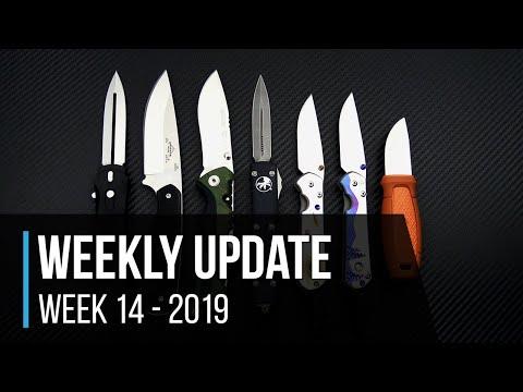 Weekly Update 14 - 2019: Protech Dark Angel, Emerson HUCK, Burnt Orange Mora Knives & More!