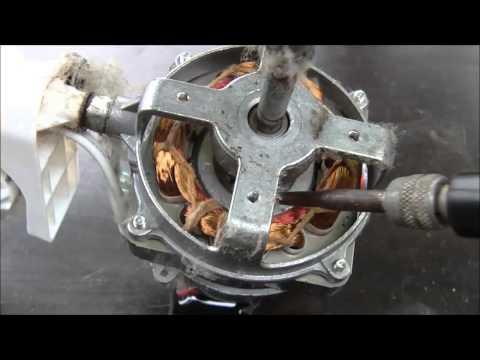Broken fan motor diagnosis for repair