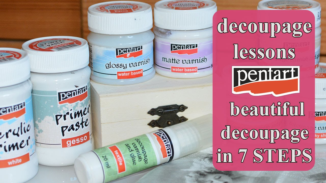 DECOUPAGE for beginners , What is decoupage ? What materials you need ? ,  Pentart / Découpage