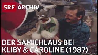Der Samichlaus bei Kliby und Caroline (1987) | Prominenz und Brauchtum in der Schweiz | SRF Archiv