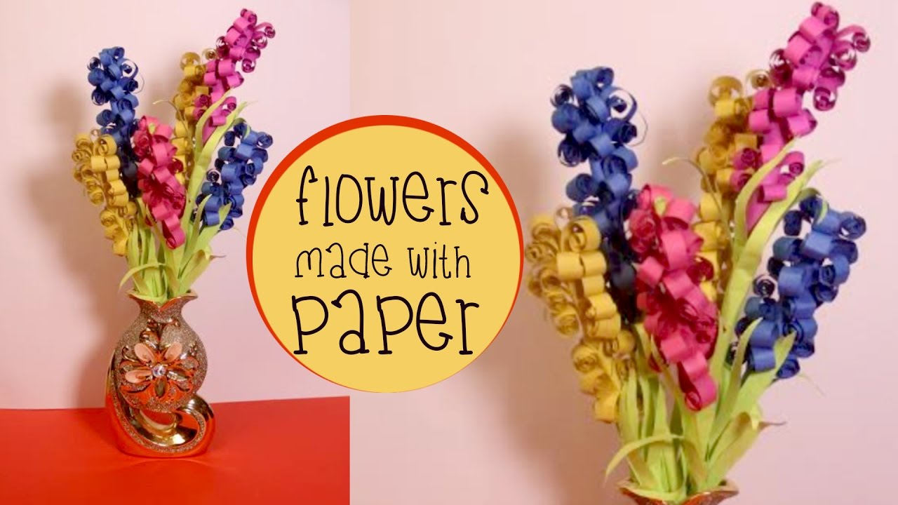 Diy flowers made with paper easy to make paper lavender flowers youtube premium mightylinksfo