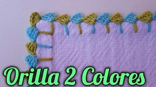 Aprenda a Fazer Borda de Crochê em Duas Cores Para Guardanapos